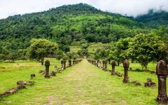 temple ruins amongst lush greenery