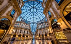 Galleria Vittorio Emanuele II is Milan's oldest shopping mall.