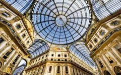 Inside Milan's Galleria Vittorio Emanuele II, the world's oldest shopping mall. Credit: Shutterstock
