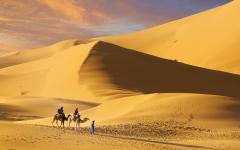 Camel ride in Morocco.