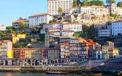 portugal porto multi-colored houses