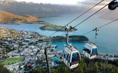 Gondola rides take visitors to the top of Bob's Peak, which overlooks Queenstown.