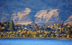 Beautiful view of Wanaka lake.