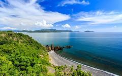 Nha Trang Bay in Vietnam, north of Nha Trang City.