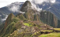 View of Machu Picchu.