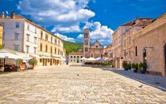 Pjaca square in Hvar, Croatia.
