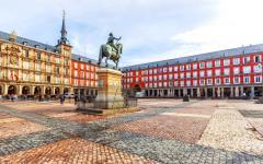 Statue of King Philip III in Plaza Mayor, Madrid.