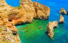 Algarve coast, Portugal.