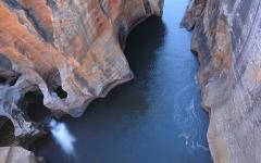 Downward view of Blyde River in Bourke's Luck Potholes, South Africa