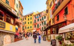 Riomaggiore is one of the five town of Cinque Terre in La Spezia, Italy.