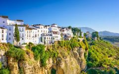 The town of Ronda, in Malaga.