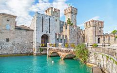 Scaliger Castle in Malcesine, close to Lake Garda.