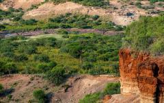 scenic view of olduvai gorge tanzania
