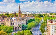 The city of Sevilla.