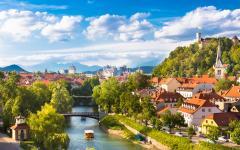 The river Ljubljanica runs through Slovenia's capital city.