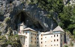Predjama Castle is built within a cave mouth in south-central Slovenia.