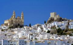 spain andalusia view of pueblos blancos