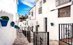 spain andalusia street in mijas