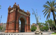 spain barcelona arch de triumph