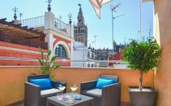 Terrace overlooking the Cathedral at Hotel Alminar. Photo: Courtesy Hotel Alminar