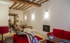 The lounge and fireplace at Hotel La Capellania. Photo: Courtesy Hotel La Capellania