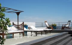 The private rooftop terrace at Hotel V. Photo: Courtesy Hotel V
