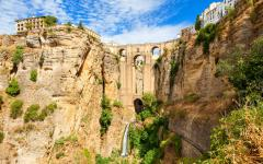 A view of Puente Nuevo, the stone bridge in Ronda.