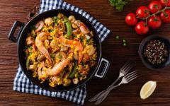 spain mallorca spanish seafood paella