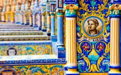 Tile detail in Sevilla.