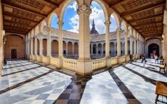 spain toledo interior of a courtyard