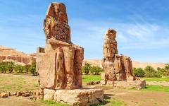 The Colossi of Memnon near Luxor.