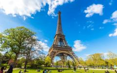 the iconic eiffel tower on a sunny day