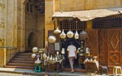Market stall in Cairo.