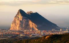 UK gibraltar rock at sunrise