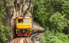 Railway over the Kwai Noi River.
