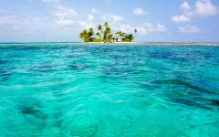 Belize's barrier reef and islands.