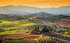 Sunrise in Tuscany.