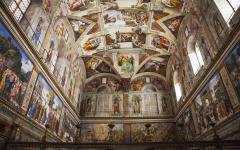 Inside the Sistine Chapel, Vatican City.