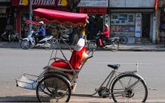 Cyclo driver in Hanoi.