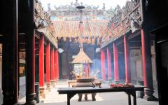 Incense burning in the pagoda in Ho Chi Minh City.