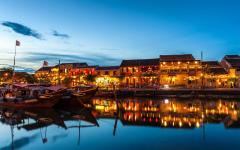 Ancient Town in Hoi An at night.