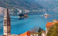 Perast is an old town on the Bay of Kotor in Montenegro.