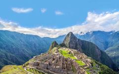 View of Machu Picchu and Wayna Picchu