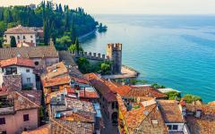 Sirmione is a resort town on the banks of Lake Garda, Italy.