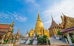Wat Phra Kaew, Temple of the Emerald Buddha in Bangkok.