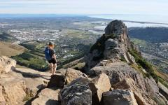 Hike to the top of Castle Rock Port Hills in Christchurch.