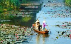 A scene in Hanoi, Vietnam.