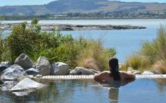 Swim in heated pools in Rotorua.