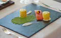 Smoked salmon plate from Windows Restaurant at Hotel d'Angleterre. Credit: Hotel d'Angleterre.