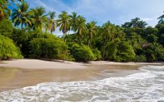 Costa Rican beach.